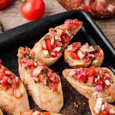 Bruschetta with Feta and Tomato