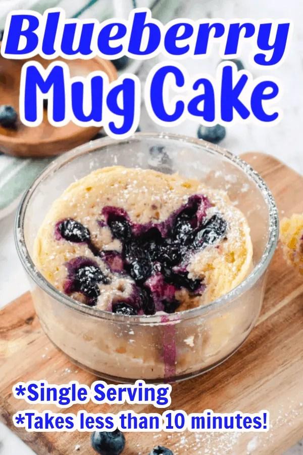 Blueberry Mug Cake Pin