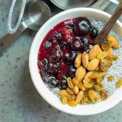Vegan Blueberry Chia Pudding