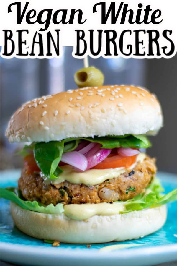How to make Vegan White Bean Burgers Pin