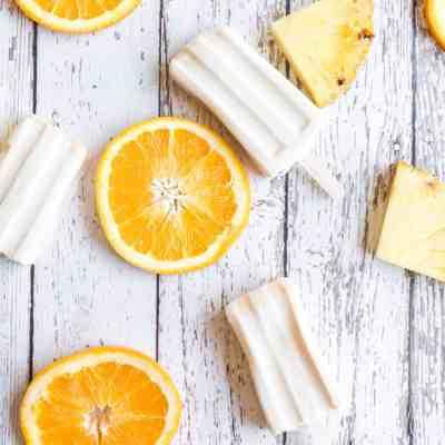 Creamy Orange Pineapple Popsicles