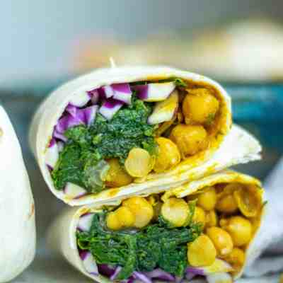 Curried Chickpea Vegan Wraps