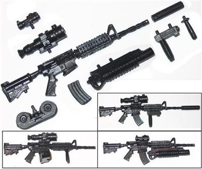 M4 Carbine Assault Rifle with Accessories BLACK Version