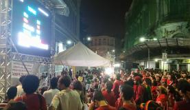 manifestantes contra o impeachment no Recife