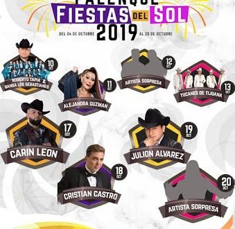 artistas palenque fiestas del sol mexicali 2019