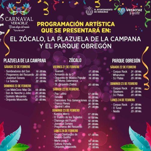 programa carnaval veracruz 2020