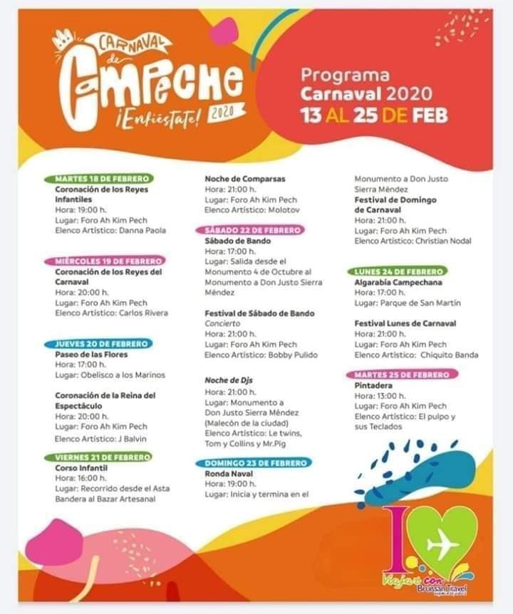 artistas carnaval campeche 2020