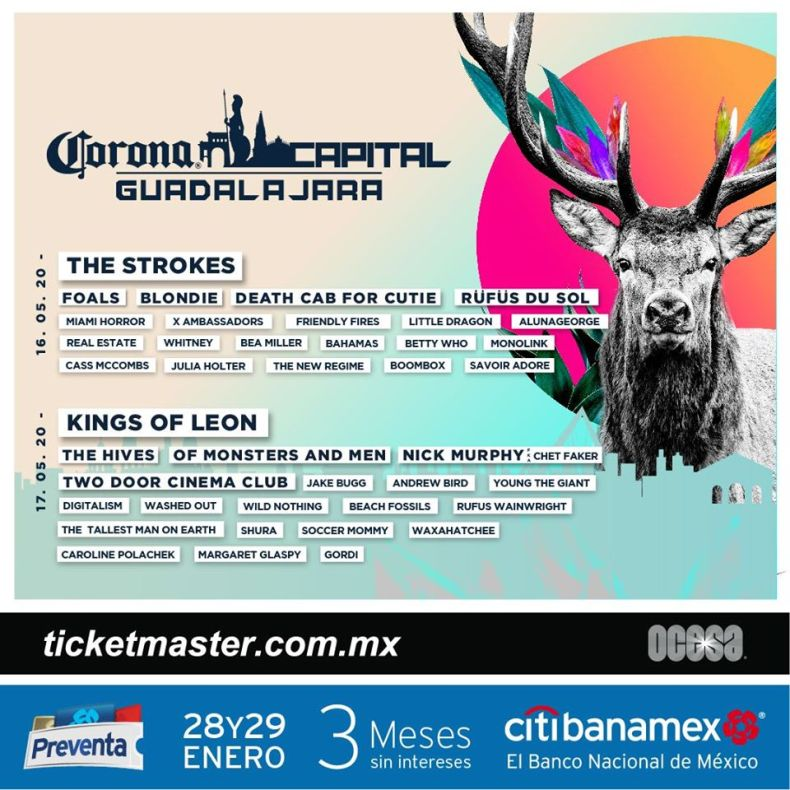 line up corona capital guadalajara 2020