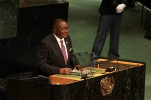 Was seen delivering statement at the UN General Assembly