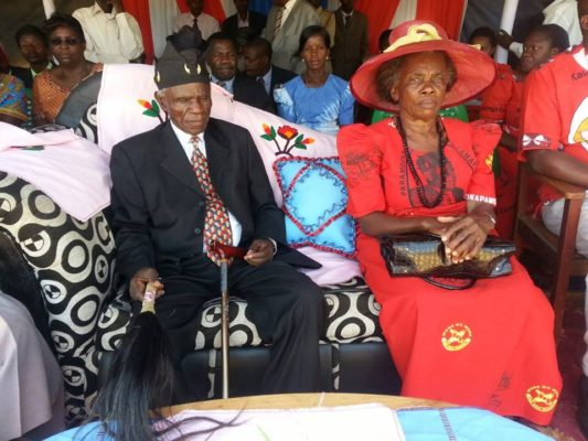 Senior Chief Chikulamaayembe with his wife during the function: ( Credit: Gerard Mzaza Nkhata)