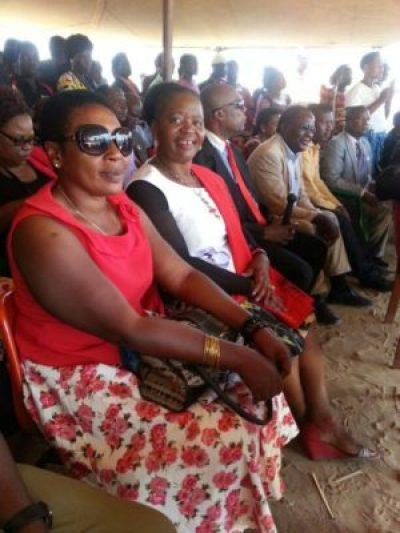 Madam Chakwera aka Nya Gondwe (2nd from Left) enjoying herself during the function