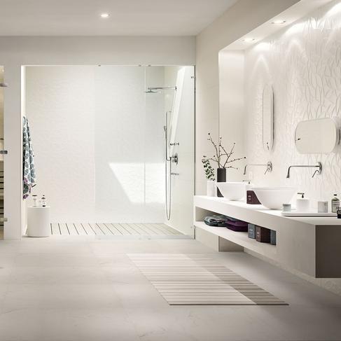 essenziale carrelage blanc pour salle