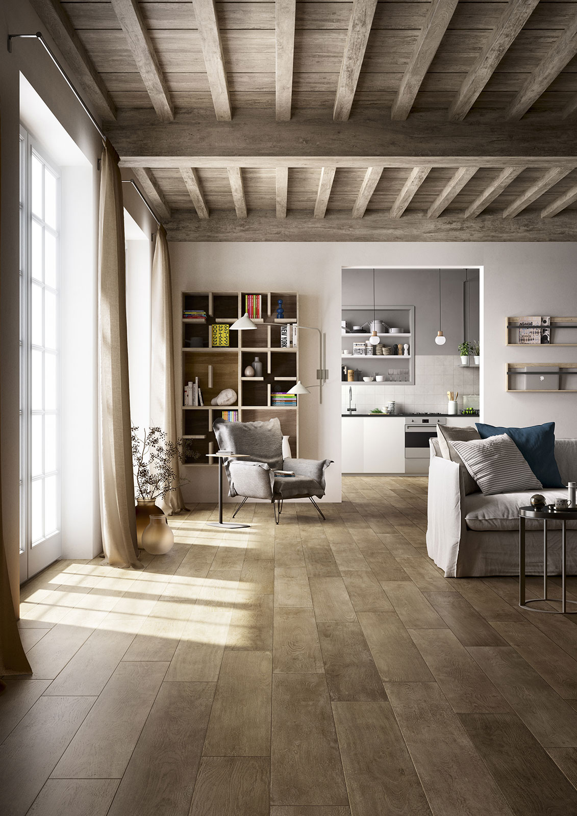 Treverktime  Gres pavimento effetto legno  Marazzi