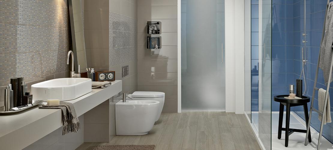 Colourline  Polished porcelain bathroom wall tiling  Marazzi