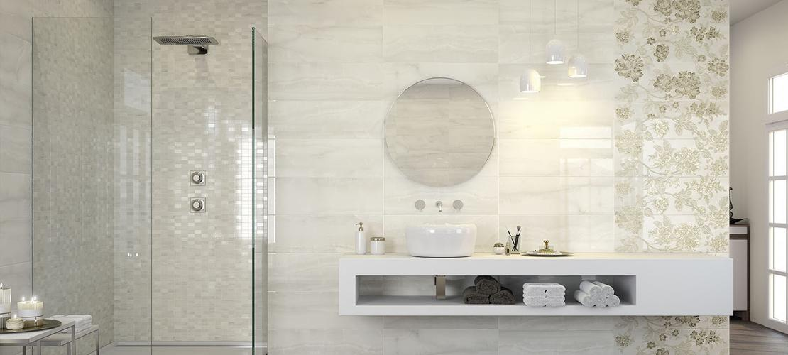 Onix  Marble effect stoneware for the bathroom  Marazzi