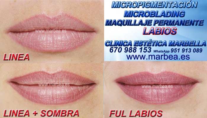MAQUILLAJE PERMANENTE LABIOS MARBELLA CLINICA ESTÉTICA ofrece Pigmentacion bocas en Marbella y Marbella