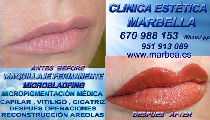 MAQUILLAJE PERMANENTE LABIOS MARBELLA CLINICA ESTÉTICA entrega Tatuaje labios 3D en Marbella y en Marbella