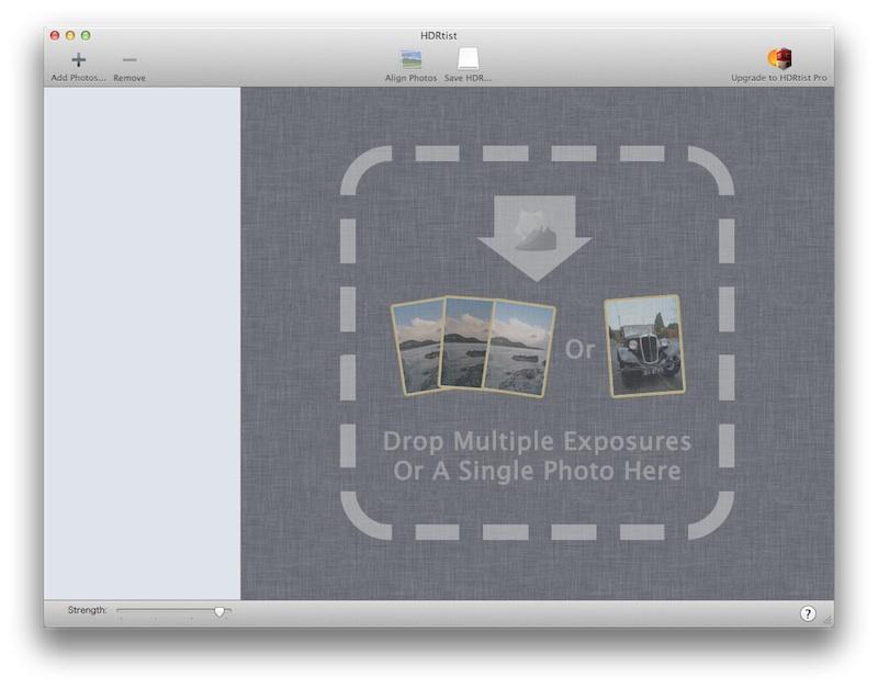 HDRtistファイル入力画面