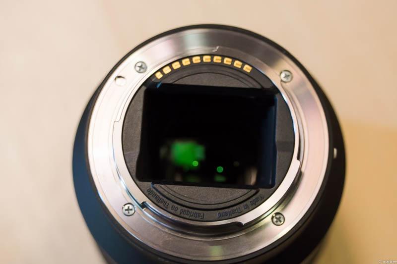 α7 レンズの後ろ玉