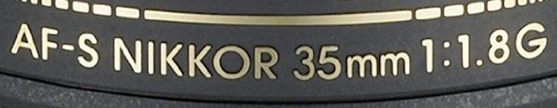Nikon AF-S Nikkor 35mm f1.8G