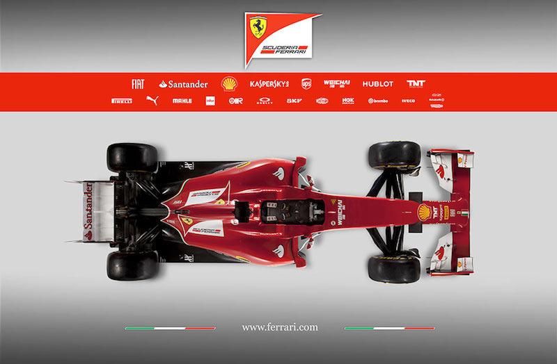 フェラーリ F14T 上面