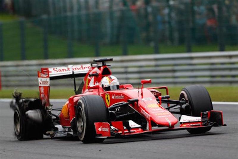 F1 2015 ベルギー 決勝 ベッテル タイヤバースト