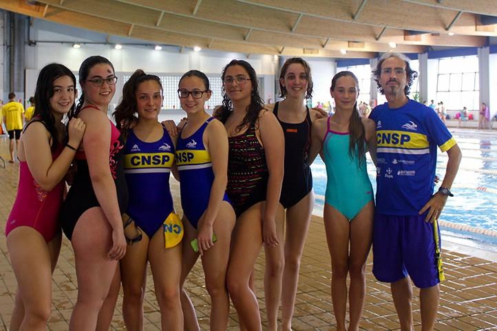 Las nadadoras del CN San Pedro mejoran sus marcas en
