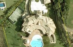 Vista aérea de la mansión de la alcaldesa de Marbella