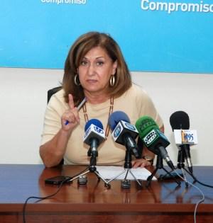 La edil del PP Carmen Díaz en imagen de archivo, durante una de sus comparecencias. Foto/ marbellaconfidencial.es