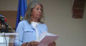 La alcaldesa de Marbella, Ángeles Muñoz, durante una reciente rueda de prensa
