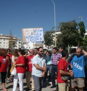 Imagen de la última protesta de la plataforma, a comienzos de septiembre