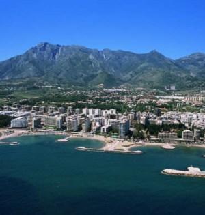 Vista aérea del término municipal de Marbella
