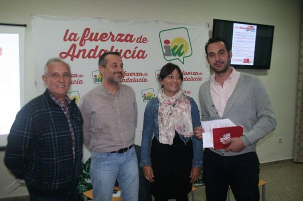 Enrique Monterroso, José Antonio Castro, Victoria Morales y Miguel Díaz, este jueves en la asamblea celebrada