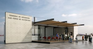 Recreación del proyecto de la futura Terminal de Autobuses de San Pedro