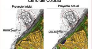 Planos del deslinde entre Marbella y Benahavís. Proyecto inicial y proyecto que pretendía la exalcaldesa Ángeles Muñoz junto a su homólogo del PP, José Antonio Mena