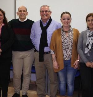 De izqda a drcha María Luisa Parra(5),Manuel Osorio (2), Rafael Piña (1), Gema Midón (3), Josefina Sabater (4) integrantes de la lista electoral de OSP