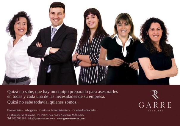 El 'número 2' del PP de Marbella, Cristóbal Garre, en una imagen de la página web promocional de su despacho profesional, Garre Asesores