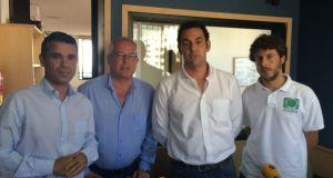 De izqda a drcha José Bernal (PSOE); Rafael Piña (OSP); Miguel Díaz (IU) y José Carlos Núñez (Costa del Sol Sí Puede) en un debate de campaña celebrado en la SER. Foto/marbellaconfidencial.es