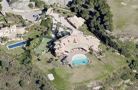 Vista aérea de la mansión de Benahavís donde reside la alcaldesa de Marbella, Ángeles Muñoz