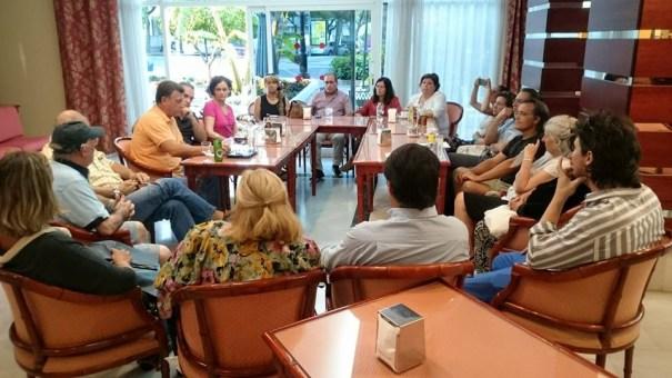 Imagen de la última reunión del Movimiento Antideslinde celebrada este lunes