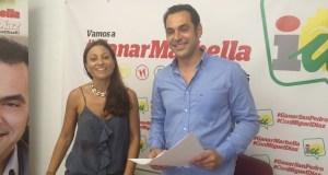Los concejales de IU de Marbella, Miguel Díaz y Victoria Morales, en imagen de archivo Foto/ marbellaconfidencial.es
