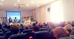 Imagen de los asistentes al acto de Ahora en Común Málaga este sábado en el Centro Cívico. Foto/ Europa Press