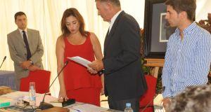 La presidenta de la Mancomunidad Occidental, Margarita del Cid (PP), este viernes al tomar posesión de su cargo. Foto/ Mancomunidad Occidental EP.