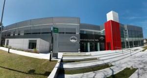 Fachada del edificio Andalucía Lab, vinculado a la delegación de Turismo de la Junta en Marbella