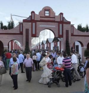 Imagen de la entrada a la feria de San Pedro Alcántara en la última edición de 2014