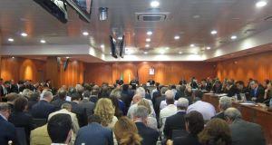 Imagen del banquillo de los acusados en el juicio por el 'caso Malaya' celebrado durante dos años en la Audiencia de Málaga. Foto/ Europa Press