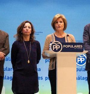 La parlamentaria Esperanza Oña este lunes en rueda de prensa junto a los también parlamentarios Antonio Garrido, Patricia Navarro y Félix Romero . Foto/ Europa Press