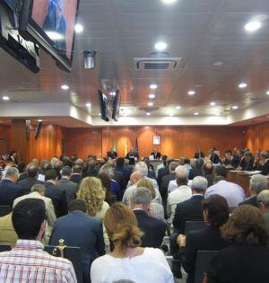 Imagen del banquillo de los acusados por el juicio del 'caso Malaya'. Foto/ Europa Press
