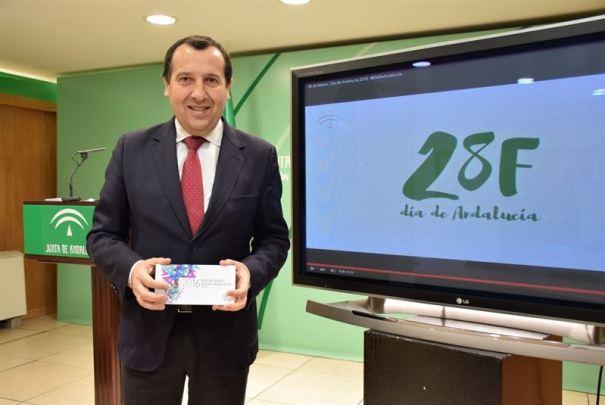 El delegado de la Junta en Málaga, José Luis Ruiz Espejo, este lunes al presentar los premios. FOTO/ Europa Press