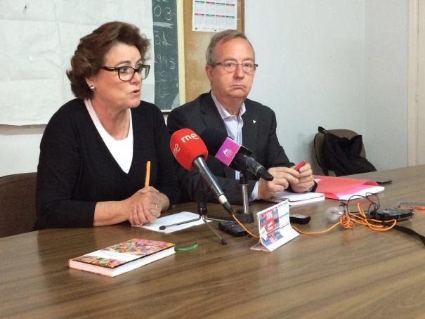 Los dirigentes de Comisiones Obreras (Hostelería Málaga) Lola Villalba y Gonzalo Fuentes este miércoles en rueda de prensa. Foto/ marbellaconfidencial.es